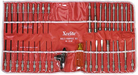 Cooper Xcelite 39-piece Series 99® Interchangeable Blade Tool Kit, Contains 25 Screwdriver & 4 Nutdriver Blades & 4 Other Tools, in a Roll Up Plastic Coated Canvas Case with 2 Extra Tool Pockets. 99MP