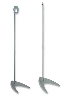 Surround Sound Speaker Stand - Winged Foot Base (Pair) VMPSS-3